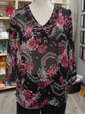 NORTHERN REFLECTIONS BLOUSE LADIES XS EUC