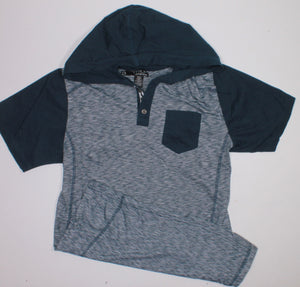 DISTORTION NAVY TOP XL (14Y) EUC