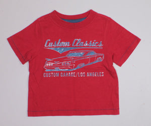 OLD NAVY RED TEE 18-24M EUC