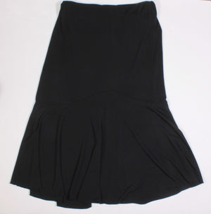 THYME MATERNITY BLACK STRETCH FLARE SKIRT LADIES XS EUC
