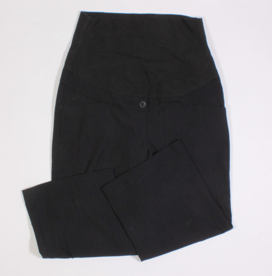 THYME MATERNITY BLACK CAPRI LENGTH DRESS PANT XS EUC