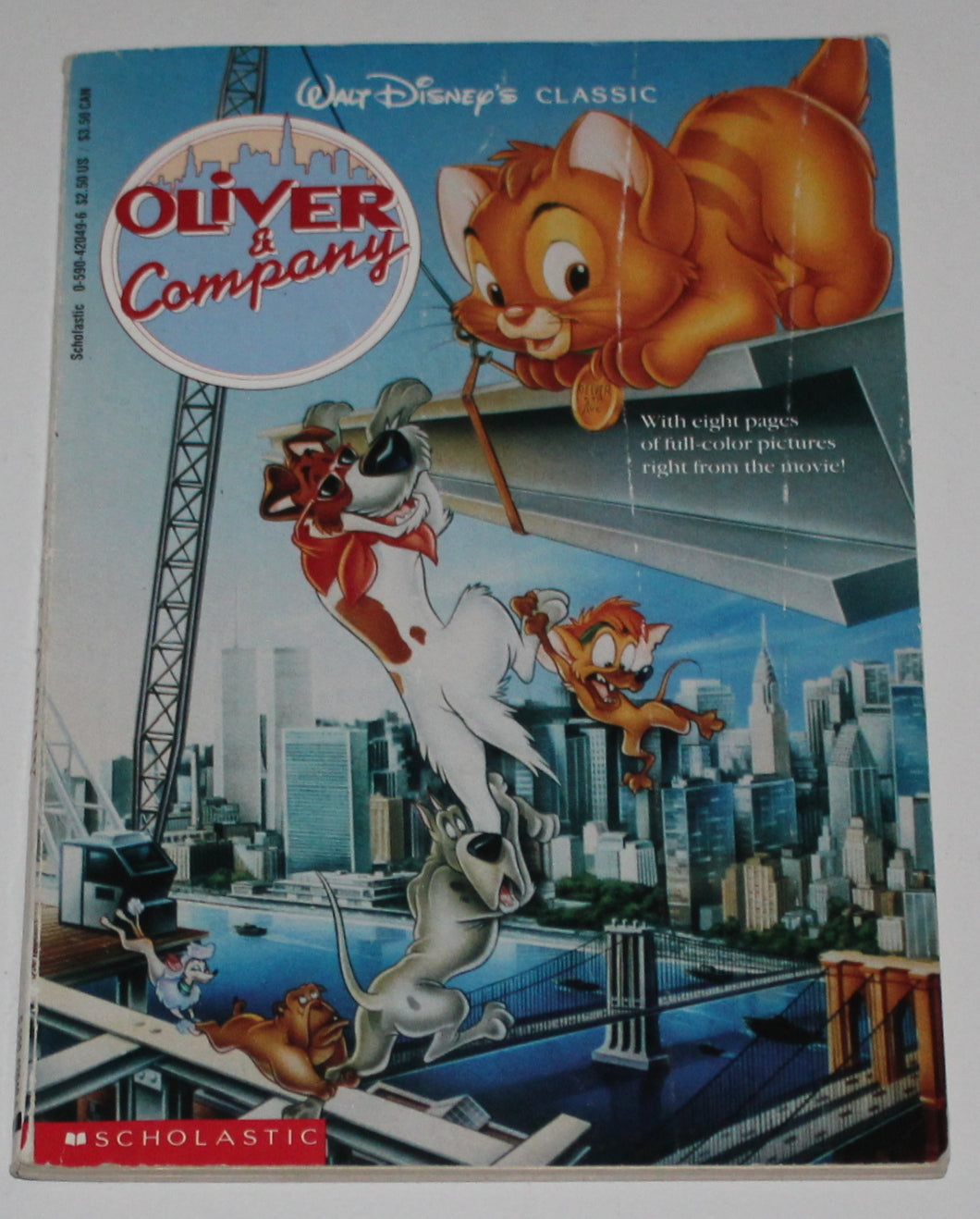 OLIVER AND COMPANY PAPERBACK BOOK