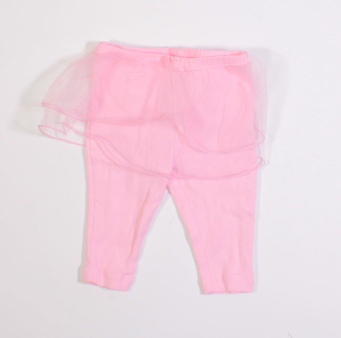 OSH KOSH LEGGINGS WITH BUILT IN TUTU 3M EUC