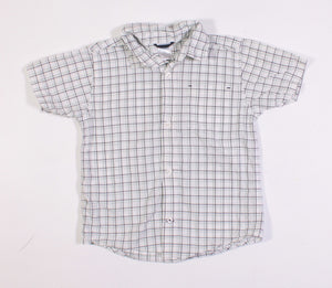 GYMBOREE GREEN CHECKERED TOP 4Y VGUC