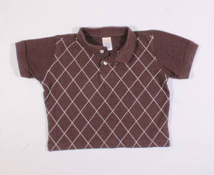 GYMBOREE BROWN SL TOP 4Y EUC