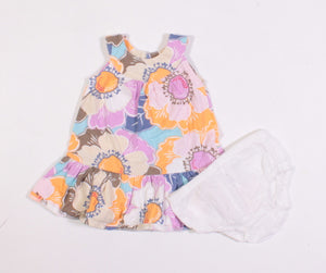 OLD NAVY FLORAL DRESS 0-3M EUC