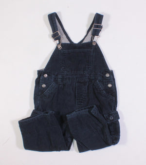 TCP JERSEY LINED BLUE CORDUROY OVERALLS 24M EUC