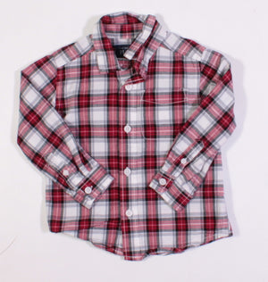 TCP RED PLAID LS TOP 18-24M EUC