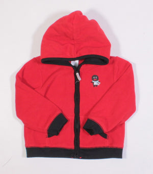 CARTERS FLEECE RED SWEATER 24M EUC