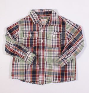 JOE FRESH PLAID LS TOP 3Y EUC