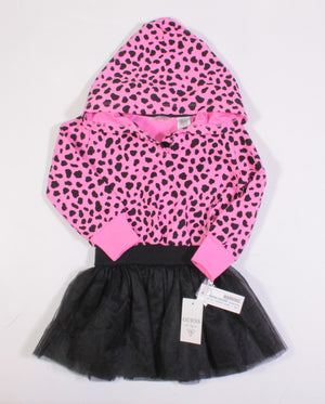 GUESS PINK ANIMAL PRINT DRESS 4Y NEW!