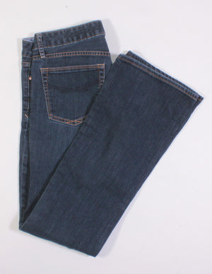 GAP DARK WASH SEXY BOOT FIT JEANS LADIES SIZE 28 EUC