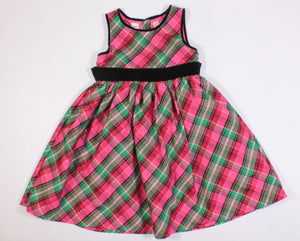 OSH KOSH HOLIDAY PLAID DRESS 6Y EUC