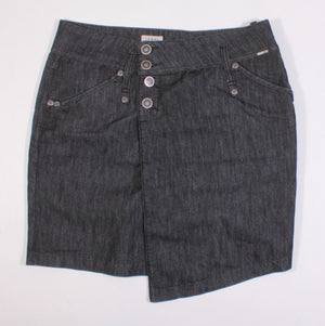 TOMMY HILFIGER DARK WASH DENIM SKIRT LADIES LARGE EUC