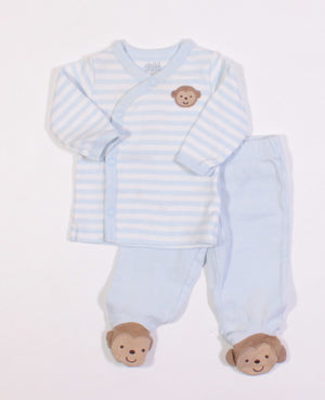 CARTERS MONKEY OUTFIT NEWBORN EUC