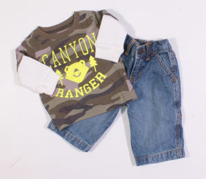 CARTERS GRAND CANYON OUTFIT 3M EUC