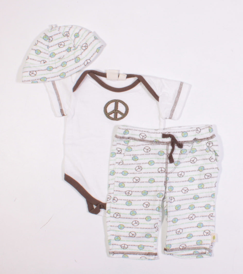 c0eba80df AUTHENTIC BABY ORGANIC COTTON PEACE OUTFIT 3M EUC