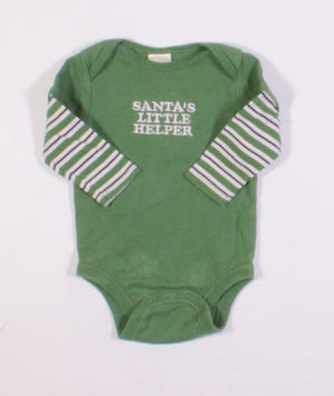 OLD NAVY SANTAS HELPER ONESIE 3-6M EUC