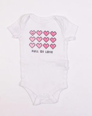 JOE FRESH HEART ONESIE 3-6M EUC