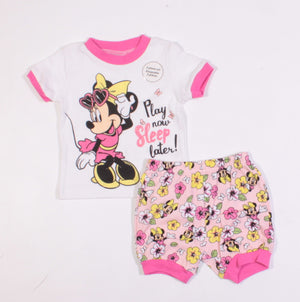 DISNEY MINNIE SL PJS 3-6M NEW!
