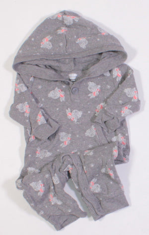OLD NAVY BUNNY GREY OUTFIT 3-6M VGUC