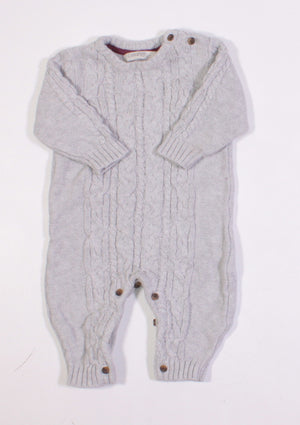 GEORGE GREY KNIT ONE PIECE OUTFIT 3-6M EUC