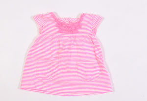CARTERS NEON STRIPED TOP 3M EUC