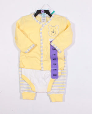 DISNEY POOH BEAR 3 PIECE OUTFIT 3M NEW!