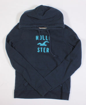 HOLLISTER NAVY HOODIE LADIES MEDIUM EUC
