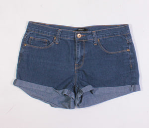 FOREVER 21 DARK WASH JEAN SHORTS LADIES SIZE 28 EUC