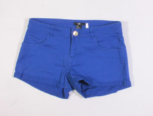 H&M BLUE SHORTS LADIES SIZE 8 EUC