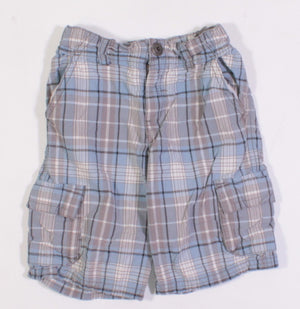 GYMBOREE BLUE PLAID SHORTS 3Y EUC