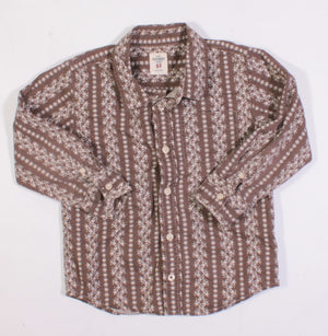 OLD NAVY BROWN LS TOP 5Y EUC