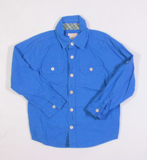 JOE FRESH BLUE BUTTON UP TOP 5Y VGUC