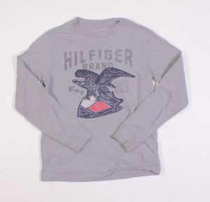 TOMMY HILFIGER GREY LS TOP 6/7Y VGUC/EUC