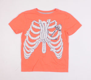 GYMBOREE ORANGE TEE 5/6Y EUC