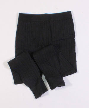 BLACK LEGGINGS 7-8Y EUC