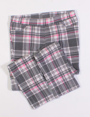 AEROPOSTALE LEGGINGS PLAID 7Y GUC