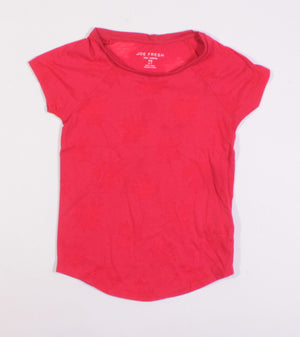 JOE FRESH SHEER CANADA LEAF TEE 6-7Y VGUC