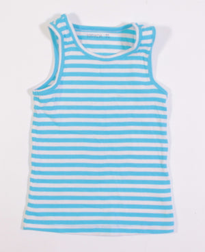NEVADA BLUE STRIPED TANK 7-8Y EUC