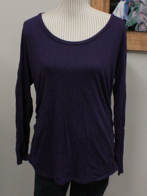 LIZ LANGE MATERNITY PURPLE TOP SMALL EUC