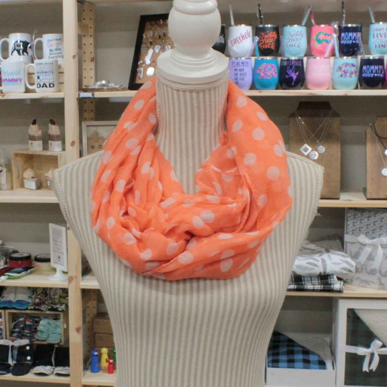 091f978ebbf3c POLKA DOT SCARF - Betty's Consignment