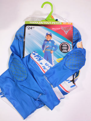 DISNEY CARS RACING COSTUME OUTFIT 3-4Y EUC