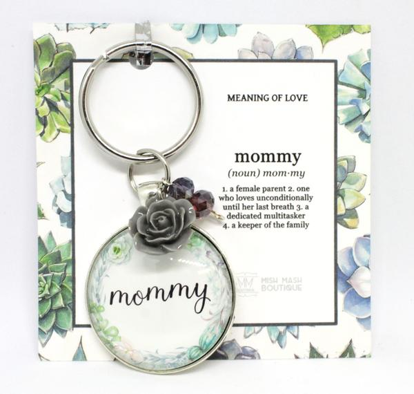 Mish Mash Boutique, Meaning Of Love Cabochon Keychains