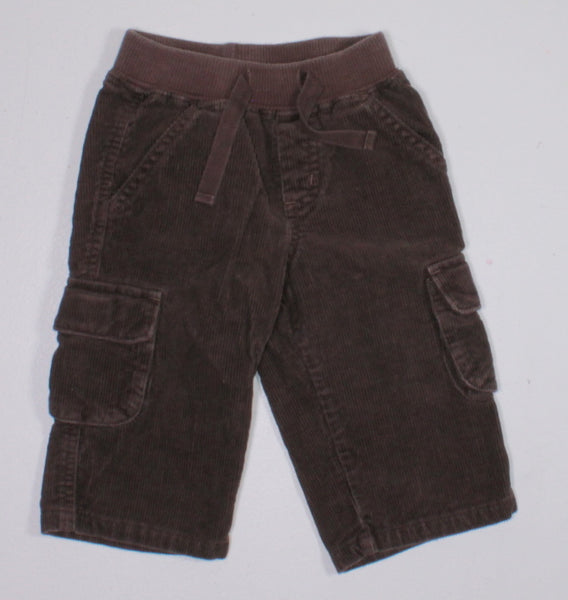 GYMBOREE BROWN CORDUROY PANTS 6-12M EUC