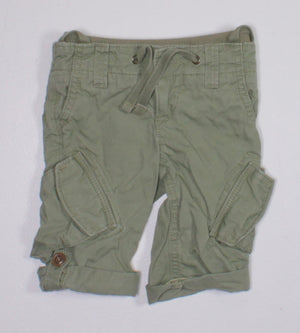 OLD NAVY GREEN CARGO CAPRIS 3-6M EUC