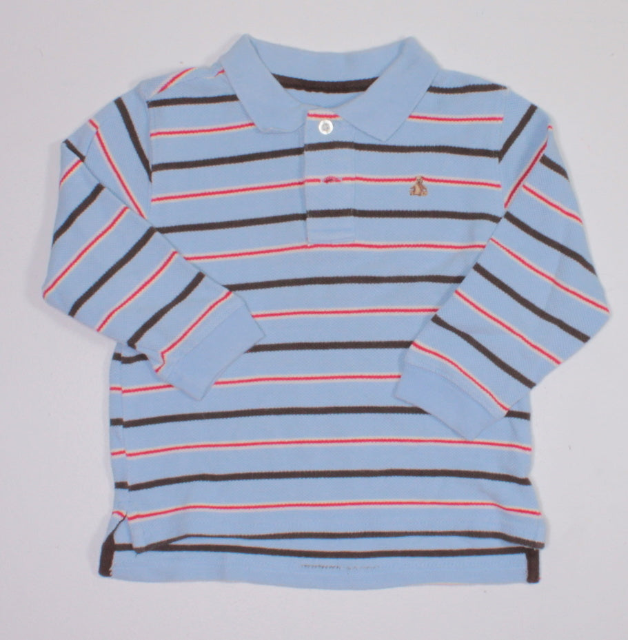 GAP BLUE STRIPED LS TOP 3T EUC