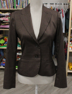 ESPIRIT JACKET BROWN LADIES SIZE 2 EUC