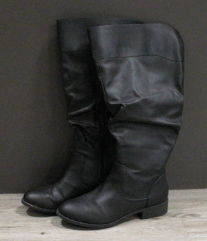 AMERICAN EAGLE BOOTS BLACK LADIES 10W EEUC