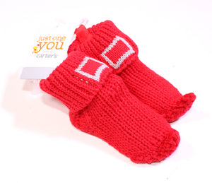 CARTERS ELF KNIT BOOTIES SIZE NEWBORN NEW!